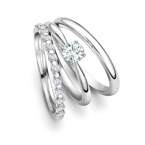 wedding dress jewellery engagement with rings and band beaded ring bands